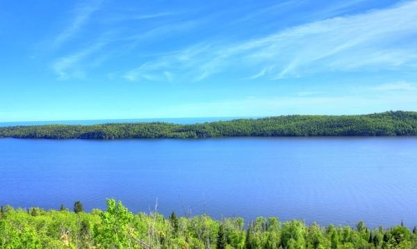 lake superior landscape at pigeon river provincial park ontario canada