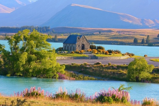 lake tekapo new zealand church