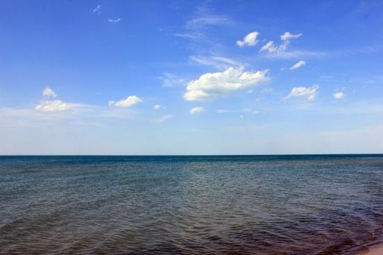 lake water and sky at indiana dunes national lakeshore indiana