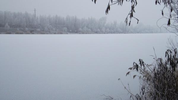 lake winter landscape ice
