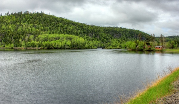 lakeside landscape at lake nipigon ontario canada