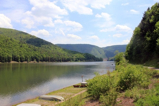 lakeside view at sinnemahoning state park pennsylvania