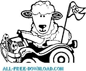 Lamb in Car