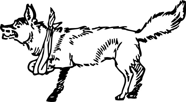 Lame Fox clip art