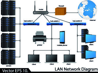 Network Diagram Free Vector Download 1 402 Free Vector For