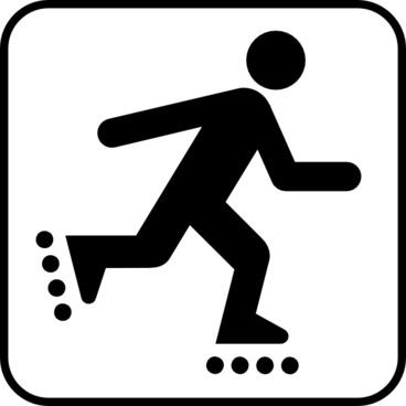 Land Recreation Skates clip art