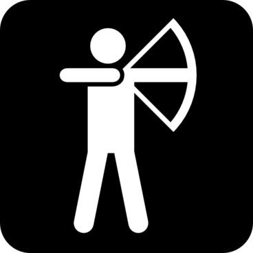 Land Recreation Symbols clip art