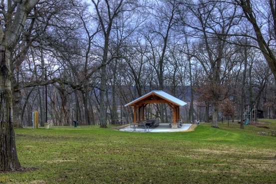 landscape and picnic shelter near black earth wisconsin
