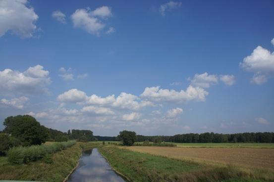 landscape blue clouds