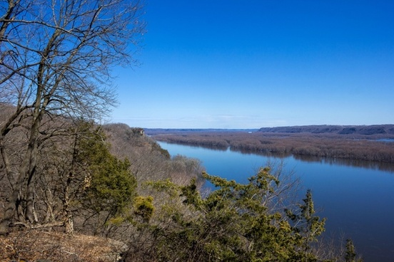 landscape down the river at effigy mounds national memorial iowa