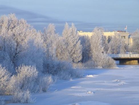 landscape finland winter