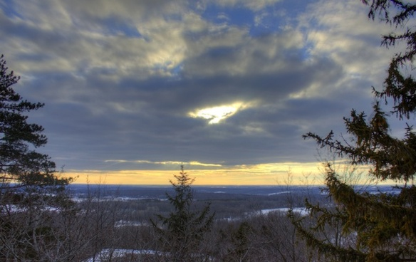 landscape from the balcony at holy hill wisconsin