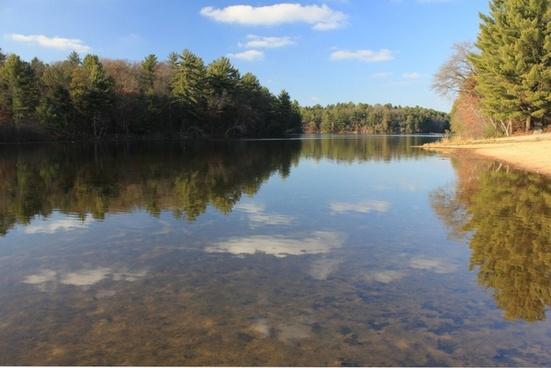 landscape lake reflection
