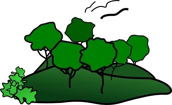 Landscape Mountain Trees clip art