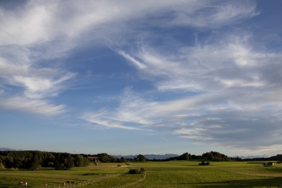landscape mountains upper bavaria