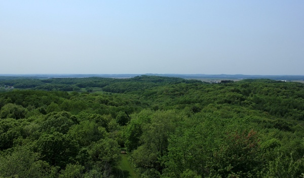 landscape of the forest and hills at hoffman hills state recreation area wisconsin
