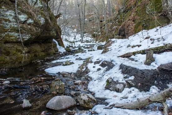 landscape of the gorge in the winter at parfrey039s glen wisconsin free photos