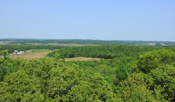 landscape overview at hoffman hills state recreation area wisconsin