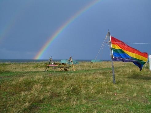 landscape rainbow flag