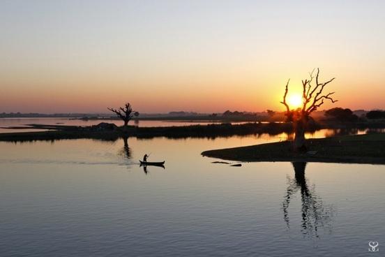 landscape sunset river