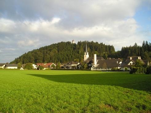 landscape village town