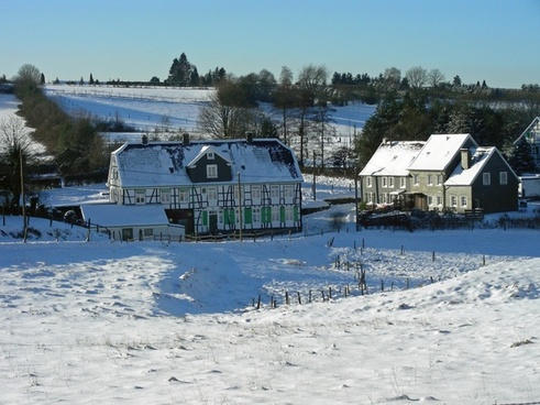 landscape winter snow