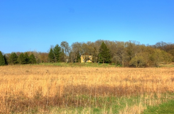 landscape with house at kettle moraine south wisconsin