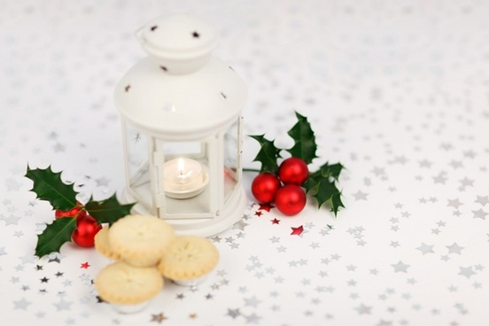 lantern holly and mince pies