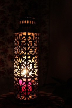 lantern illuminated lantern candle