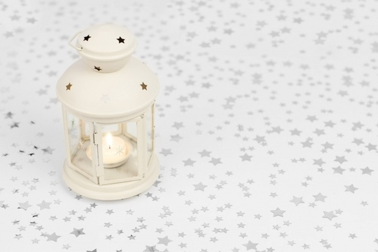 lantern on starry background