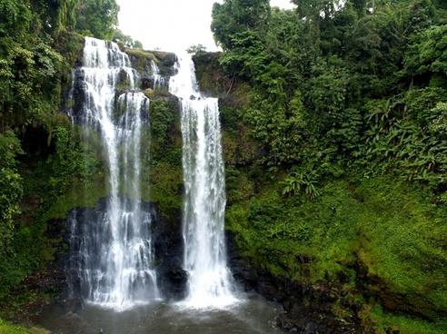 laos waterfall waterfall at lao wet