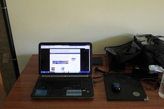 laptop on workbench