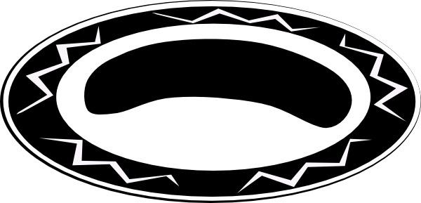Large Basic Plate clip art