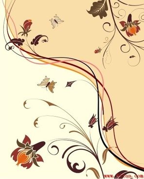 decorative background natural flowers theme classical design