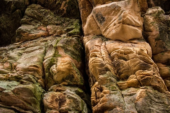 large rock structure at governor dodge state park wisconsin