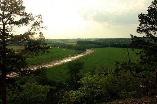 late afternoon from bluff at cuivre river state park missouri