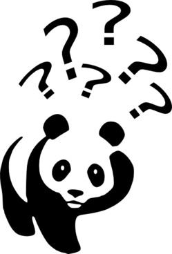 Laurent Panda Point D Interrogation clip art