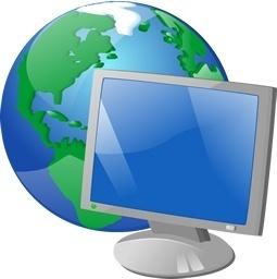 LCD globe earth