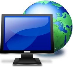 LCD monitor and Global earth