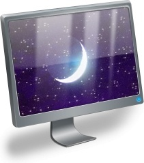 LCD With moon inside