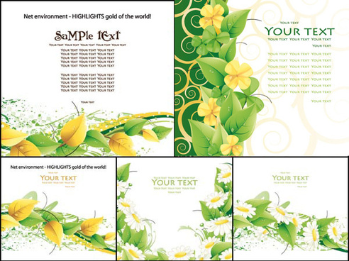 leaf and chrysanthemum design vector