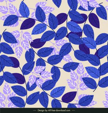 leaf background bright dark violet classic flat design