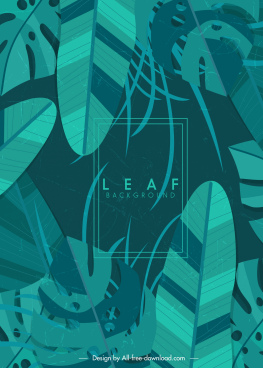 leaf background dark classical green monochrome design