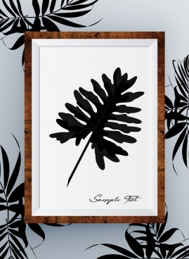 leaf background painting icon decoration