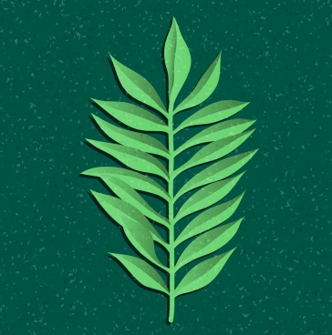 leaf background paper cut design green monochrome design