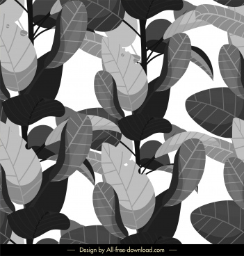 leaf background retro black grey design