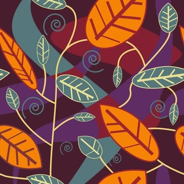 leaves background template colorful flat classic decor