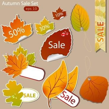 leaf label 02 vector