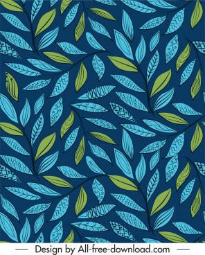 leaf pattern colored flat classic decor