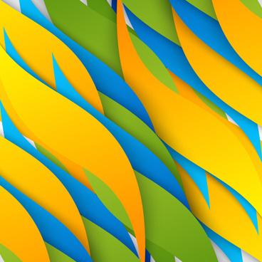 leaf shape wavy background vector